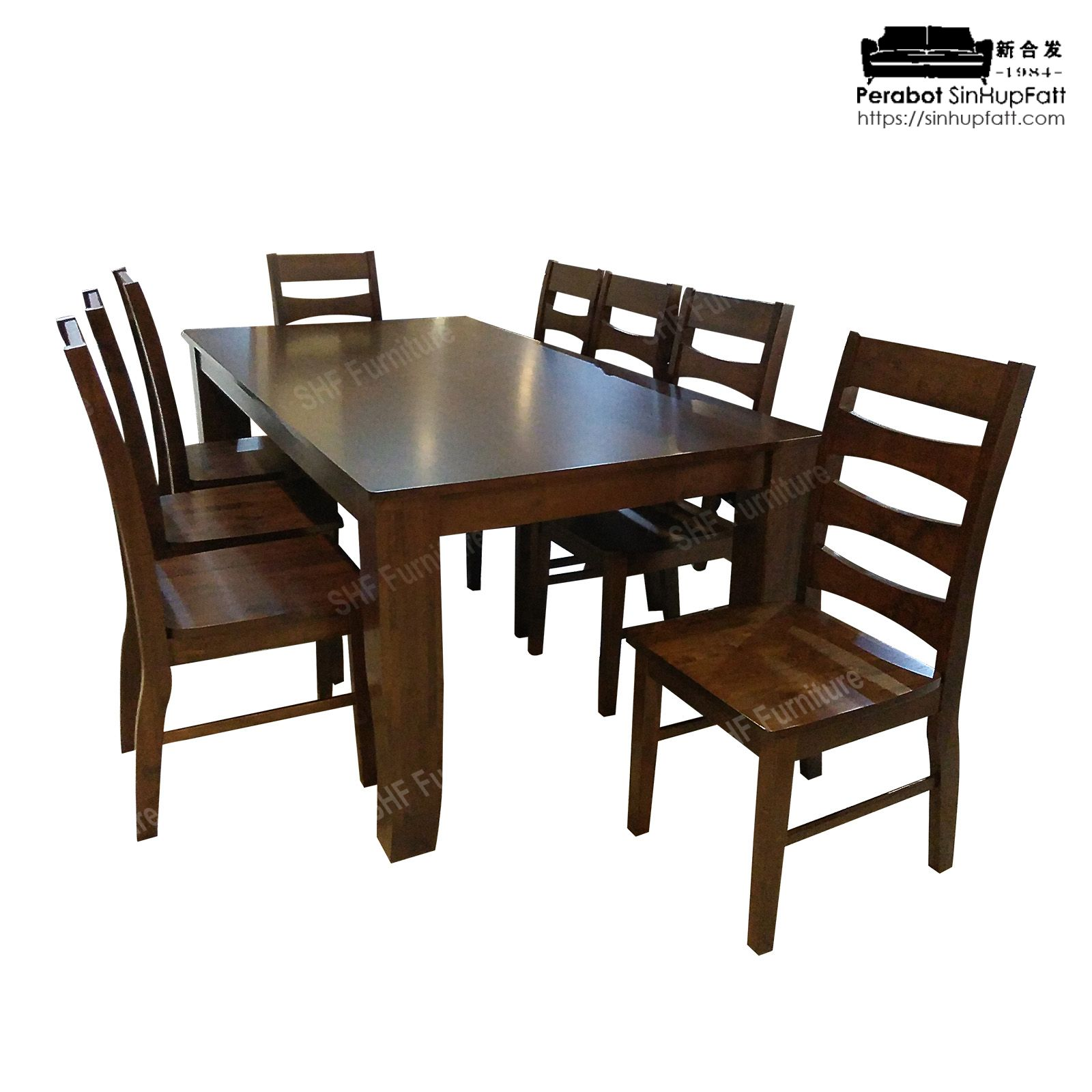 Solid 8 Seater Dining Set Kedai, Wooden Dining Room Table And 8 Chairs