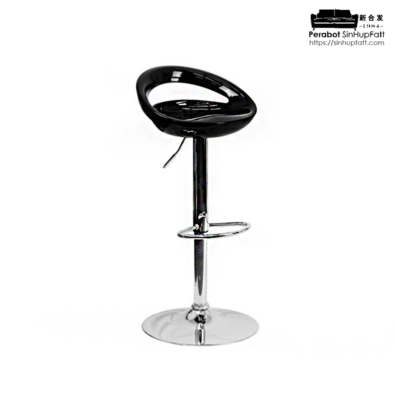Magnificent Chrome Finished Metal Base Height Adjustable And 360 Degree Swivel Bar Stool With Abs Plastic Seat Bar Stool Evergreenethics Interior Chair Design Evergreenethicsorg