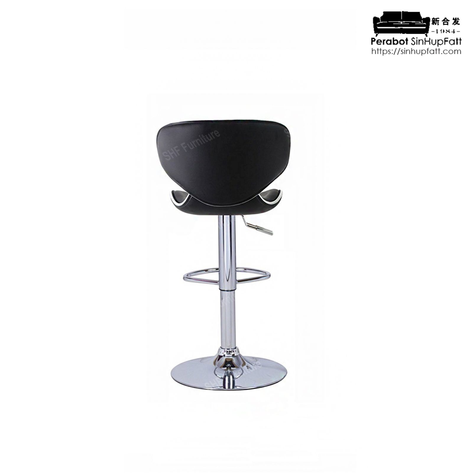 Padded Faux Leather Seat With Metal Base Gas Lift Swivel