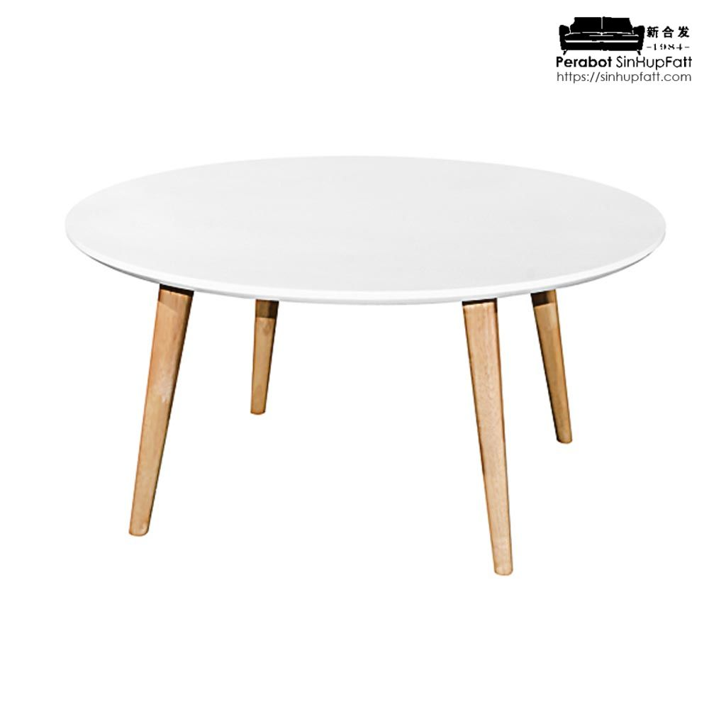 Rubberwood Coffee Table.Solid Rubber Wood Coffee Table With White Top